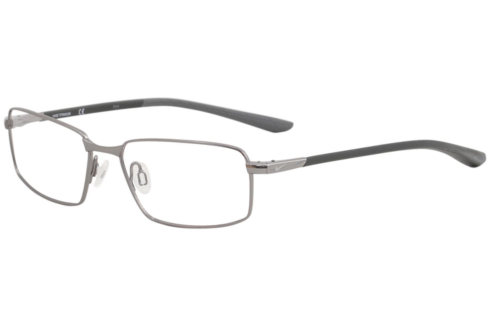 65f9a2e8bb6 Nike Men s Eyeglasses 6072 Full Rim Titanium Optical Frame