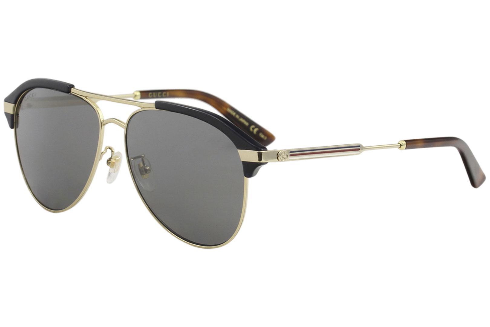 0518e5c463 Gucci Men s GG0288SA GG 0288 SA Fashion Pilot Sunglasses