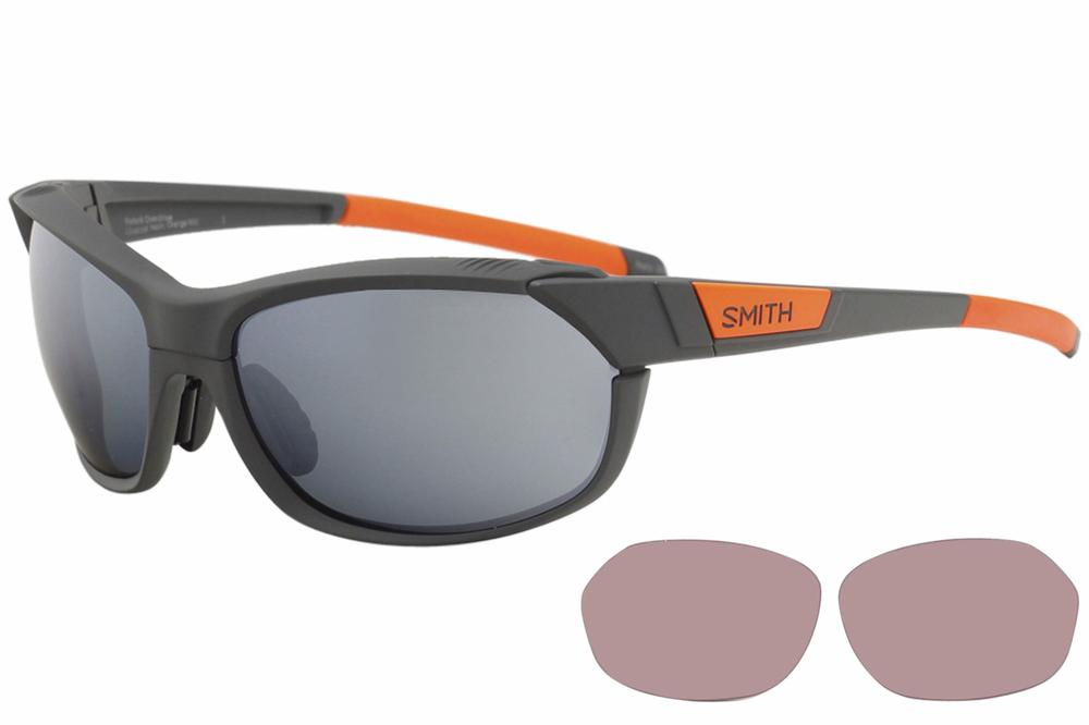 Image of Smith Optics Pivlock Overdrive Wrap Sunglasses w/Extra Replacment Lenses - Grey - Lens 61 Bridge 17 Temple 135mm