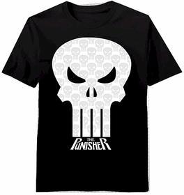 Image of Marvel Men's The Punisher 100% Cotton Black T Shirt ST# V0050MS - Black - Large