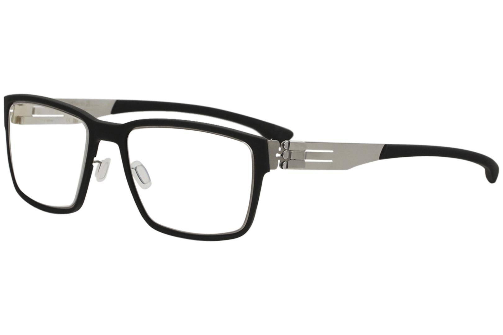 Image of Ic! Berlin Men's Eyeglasses Nino S. Full Rim Optical Frame - Black - Lens 53 Bridge 20 Temple 145mm