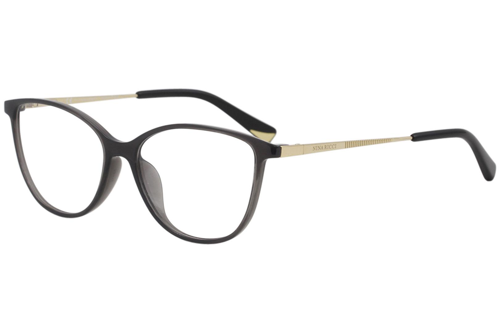 Image of Nina Ricci Eyeglasses VNR034 VNR/034 0705 Clear Dark Grey Optical Frame 53mm - Semi Clear Dark Grey   0705 - Lens 53 Bridge 15 Temple 130mm