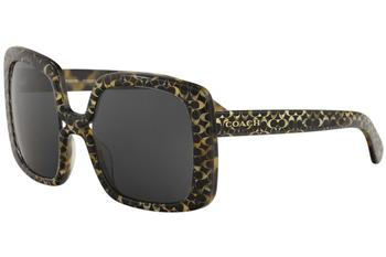 1a19c531b0 ... new style coach womens hc8245 hc 8245 fashion square sunglasses 98856  59fc7