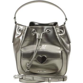 Love Moschino Women's Cut Heart Patent Bucket Handbag UPC: