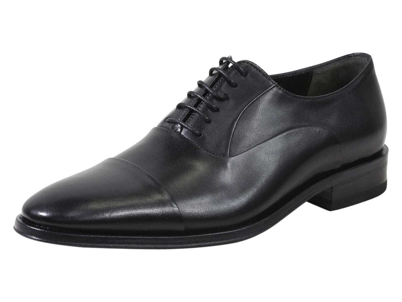Image of Bruno Magli Men's Maioco Leather Oxfords Shoes - Black - 8.5 D(M) US