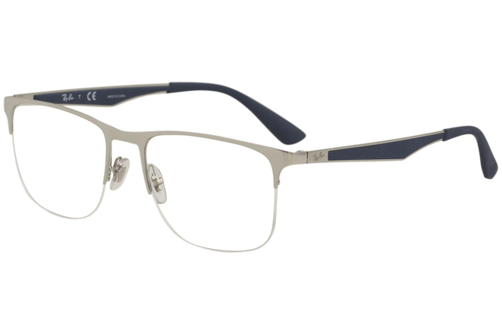 fb879bf06fd Ray Ban Men s Eyeglasses RX6362 RX 6362 RayBan Half Rim Optical Frame