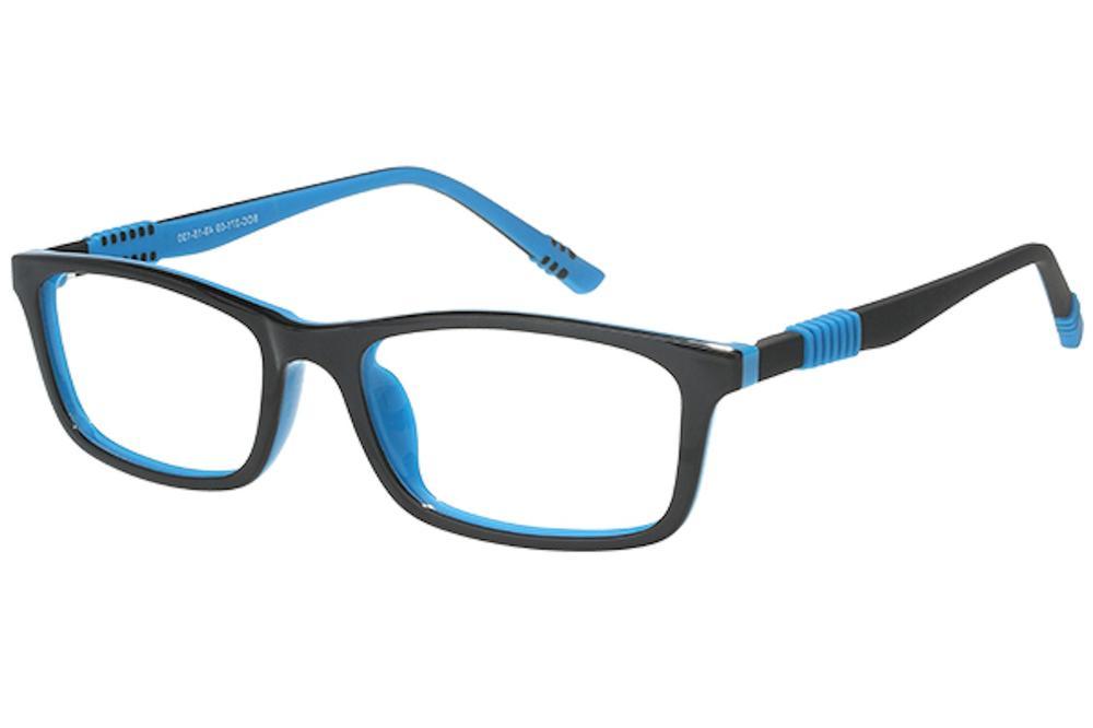 Image of Bocci Boy's Eyeglasses 371 Full Rim Optical Frame - Blue   09 - Lens 49 Bridge 15 Temple 130mm