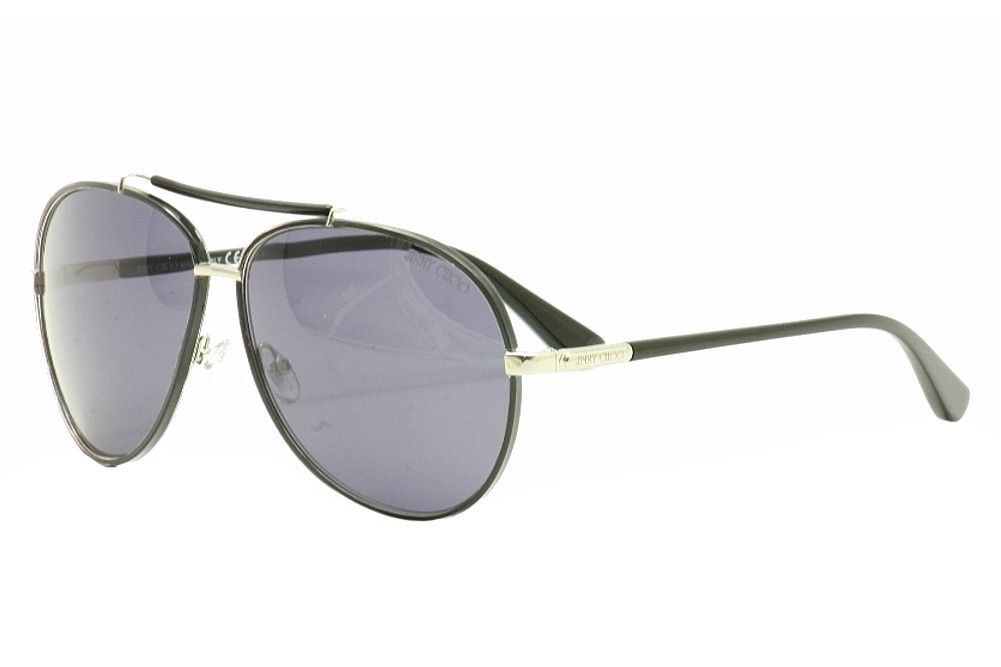 Image of Jimmy Choo Francoise/S Fashion Pilot Sunglasses 61mm - Black - 61 12 135