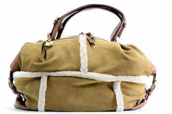 Ugg Uggs Women's Quinn Zip Leather Satchel Handbag  UPC:
