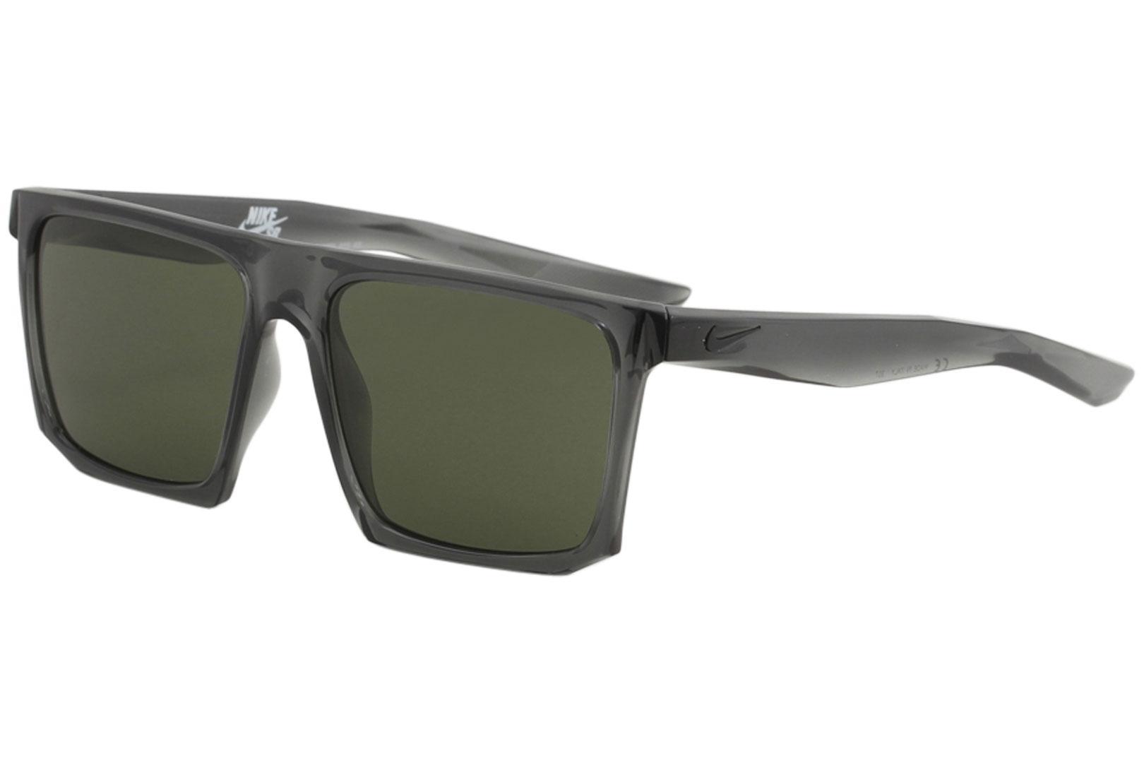Image of Nike SB Men's Ledge EV1058 EV/1058 Sport Square Sunglasses - Anthracite/Green   003 - Lens 56 Bridge 16 Temple 145mm