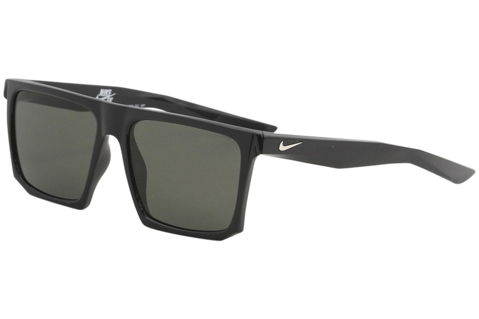 Image of Nike SB Men's Ledge EV1098 EV/1098 Sport Square Sunglasses - Black Silver/Polarized Grey   001 - Lens 56 Bridge 16 Temple 145mm