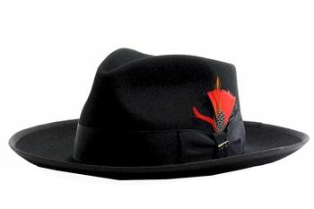 Scala Classico Men's Zoot 100% Wool Fedora Hat  UPC: