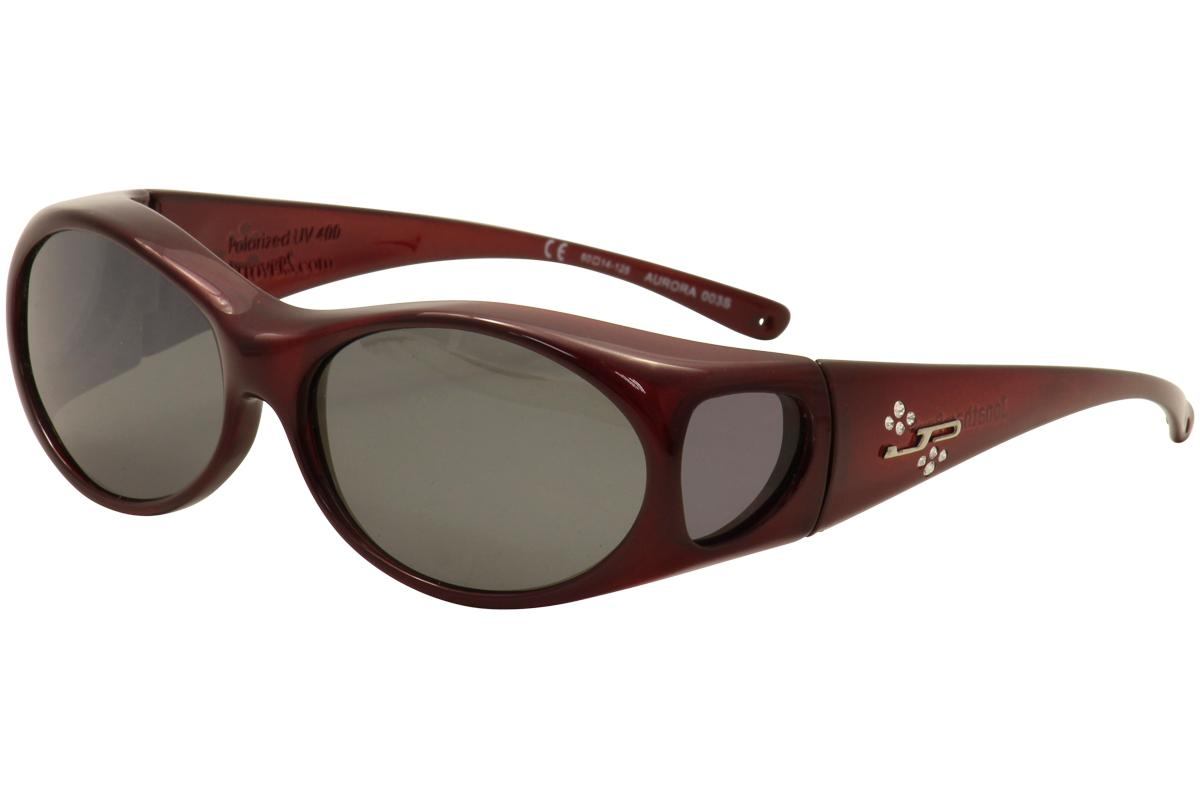 Image of Jonathan Paul Aurora AR 003S 003/S Small Fitovers Polarized Sunglasses - Red - Lens 60 Bridge 14 Temple 125mm