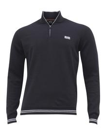 Hugo Boss Men's Zimex-S19 Quarter Zip Long Sleeve Sweater Shirt