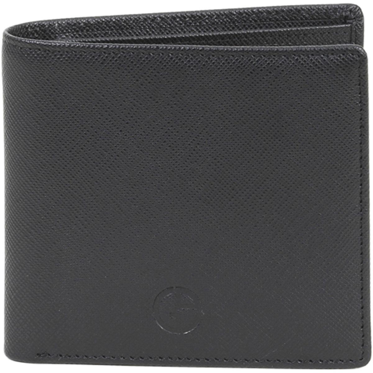 Image of Giorgio Armani Men's Portafoglio Classico Genuine Leather Bi Fold Wallet - Black