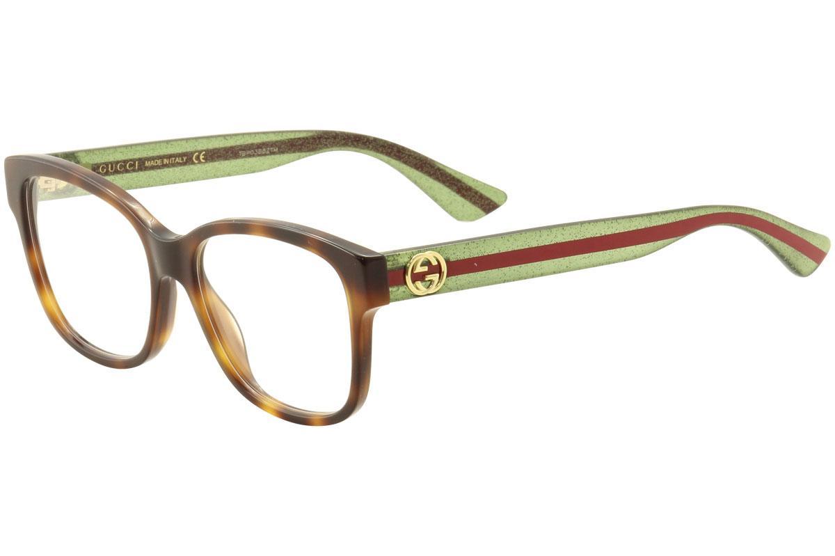 ad638f8910a Gucci Women  39 s Eyeglasses GG0038O GG 0038O Full Rim Optical Frame