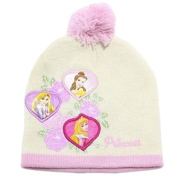 Disney Princess Toddler Girls Age 2 4 Floral Beanie Hat Mittens Set