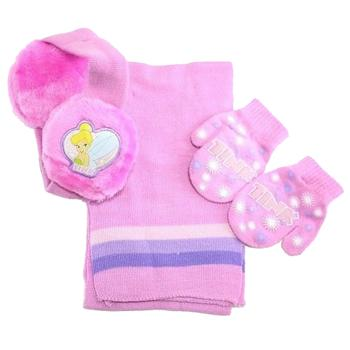 Disney Fairies Toddler Girl s Ages 2 4 Earmuffs Scarf Mittens Set