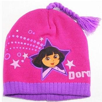 Nick Jr. Dora The Explorer Girl's Beanie Hat & Gloves Set Sz. 4-7