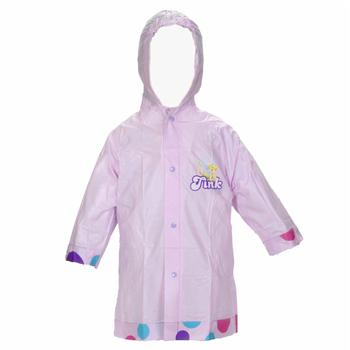 Disney Fairies Girl's Rain Slicker Lavender Hooded Poncho UPC: