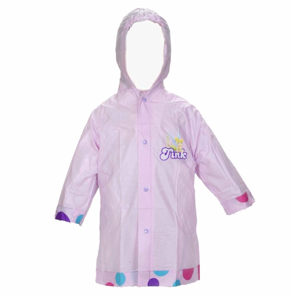 Image of Disney Fairies Girl's Rain Slicker Lavender Hooded Poncho - Purple - Small: Toddler 2 3