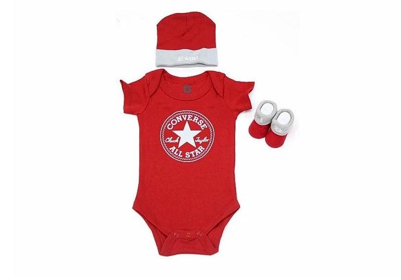 574d439dac7 Converse All Star Baby Boy s 3 Piece Newborn Set