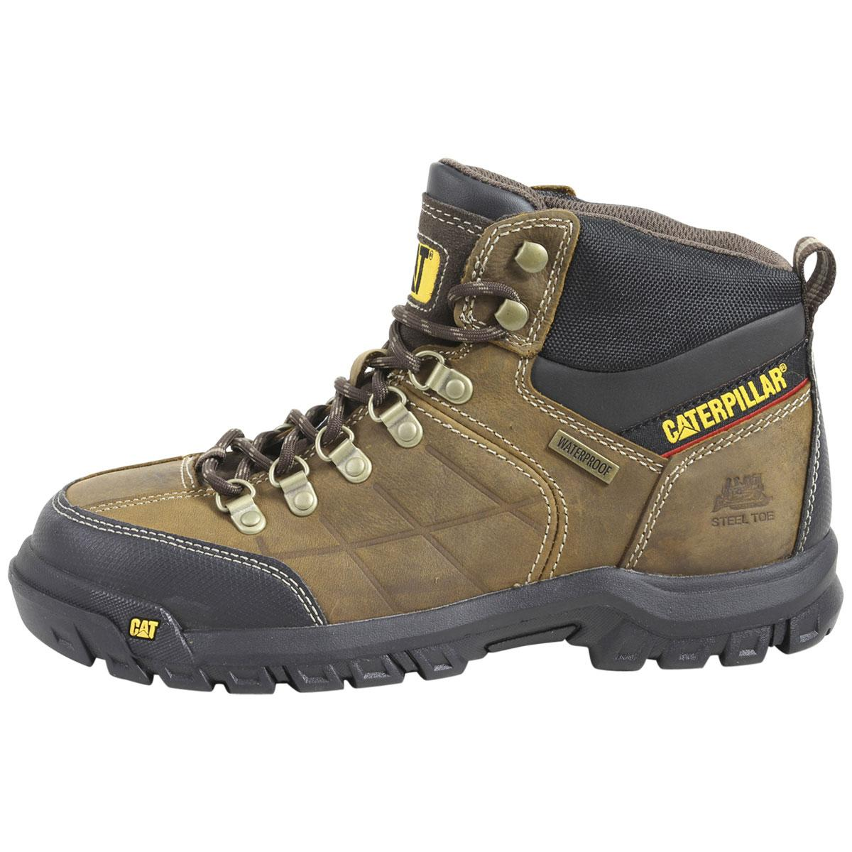 Caterpillar Mens Threshold Waterproof Steel Toe Work Boots Shoes D Island Hikers Fashionable Brown By 1234567