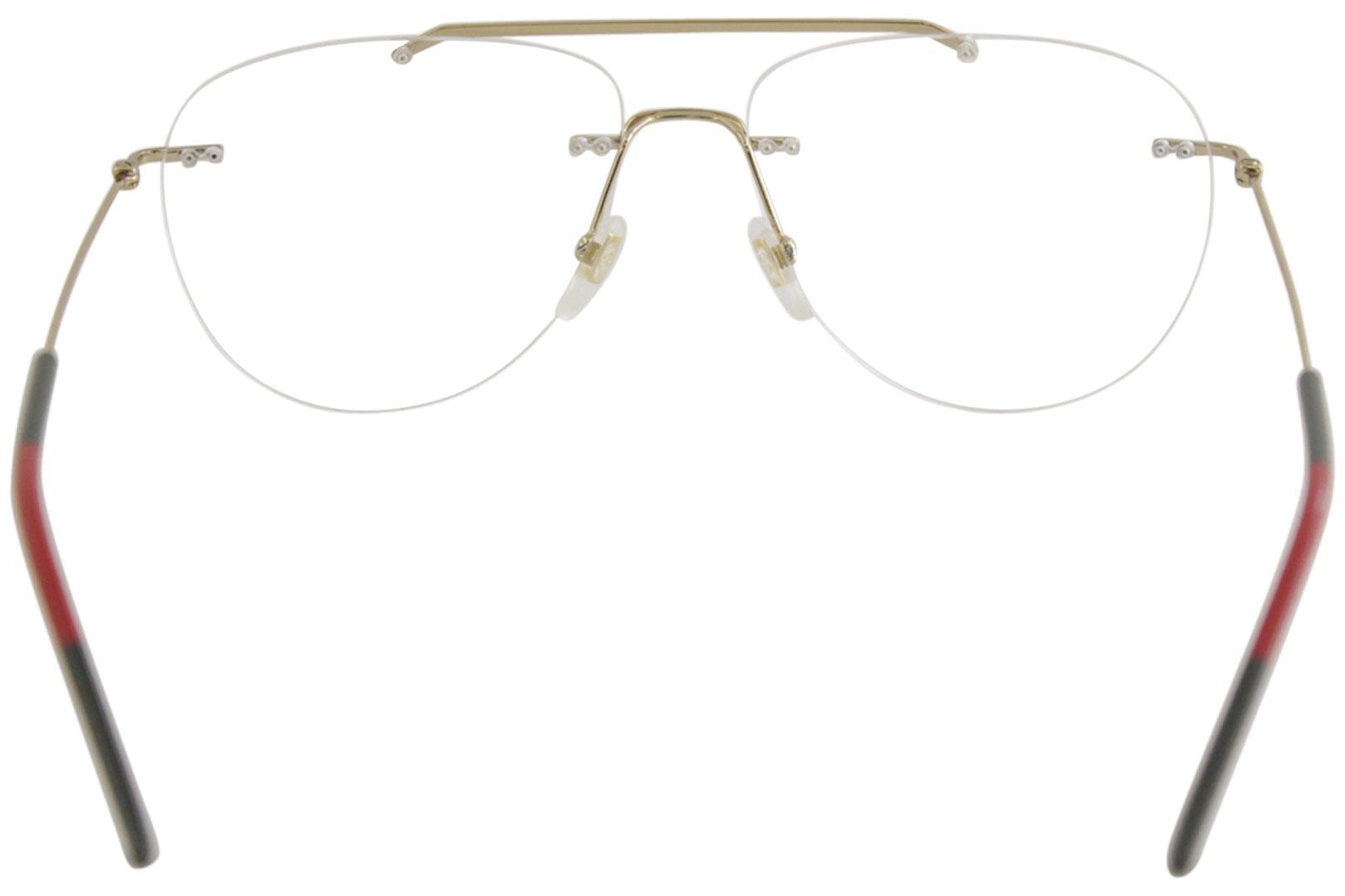 47082c412c79 Gucci Men's Eyeglasses GG0398O GG/0398/O Rimless Optical Frame