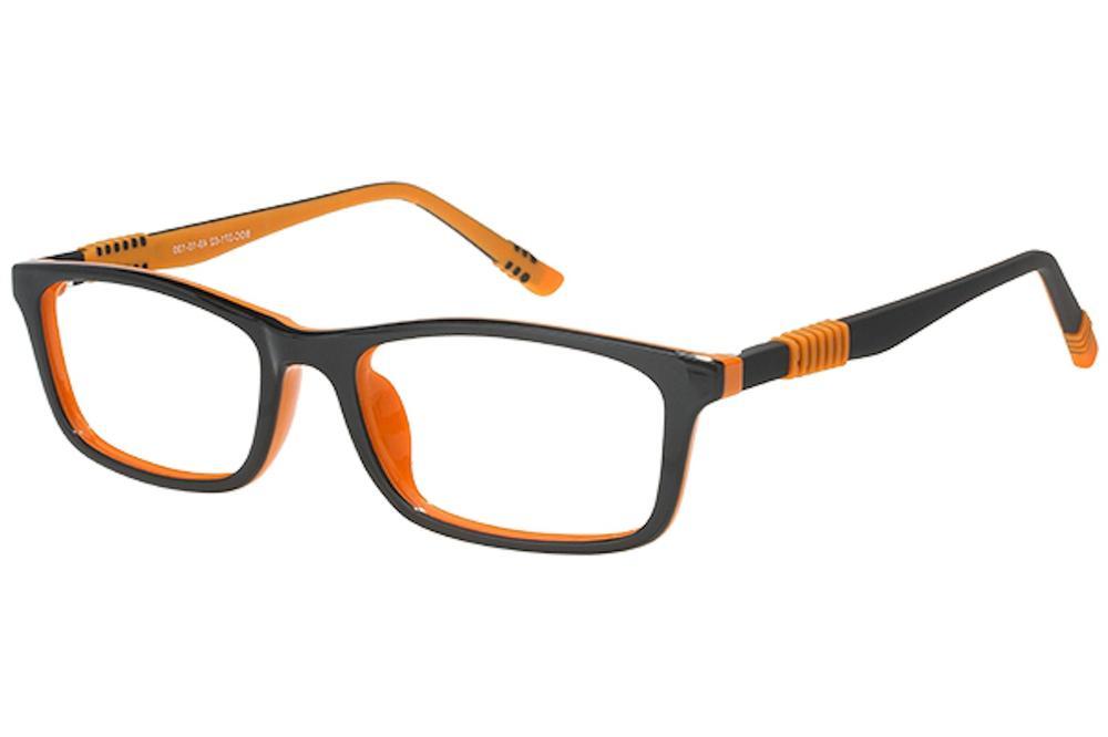 Image of Bocci Boy's Eyeglasses 371 Full Rim Optical Frame - Brown   02 - Lens 49 Bridge 15 Temple 130mm