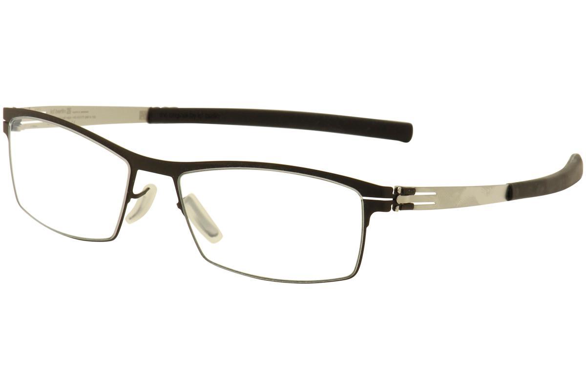 Image of IC! Berlin Men's Eyeglasses Alwin C. Full Rim Optical Frame - Black - Lens 52 Bridge 17 Temple 145mm