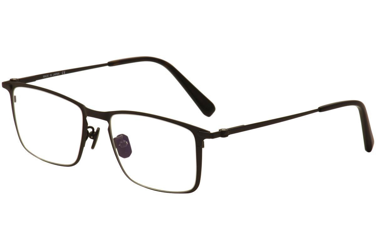 Image of Brioni Men's Eyeglasses BR 0013O 0013/O Titanium Full Rim Optical Frame - Black - Lens 53 Bridge 19 Temple 145mm
