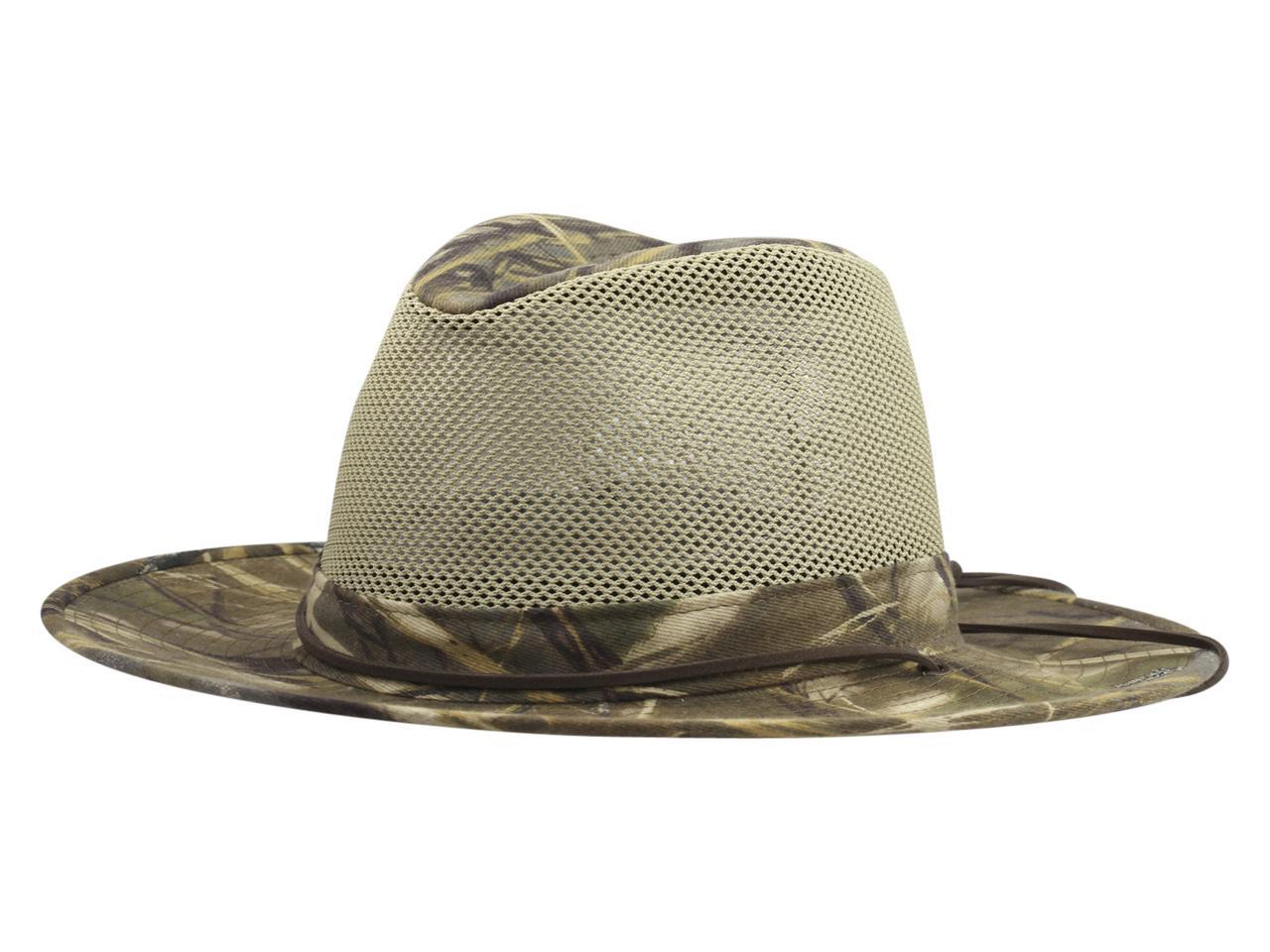 Henschel Men s Realtree Aussie Camo Breezer Safari Hat 6d5c1b79fe9f