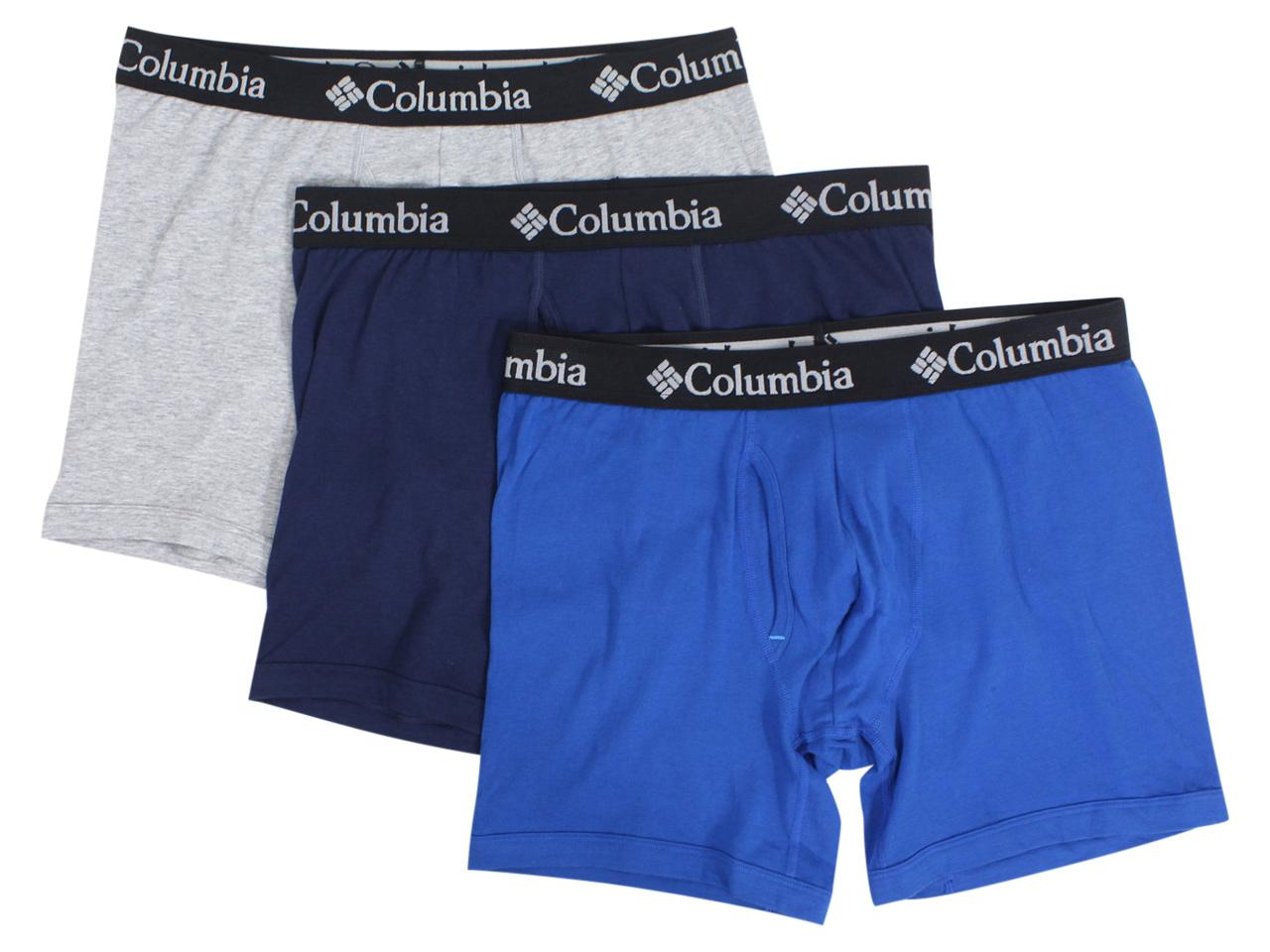 Columbia Men's 3-Pc Stretch Boxer Briefs Underwear