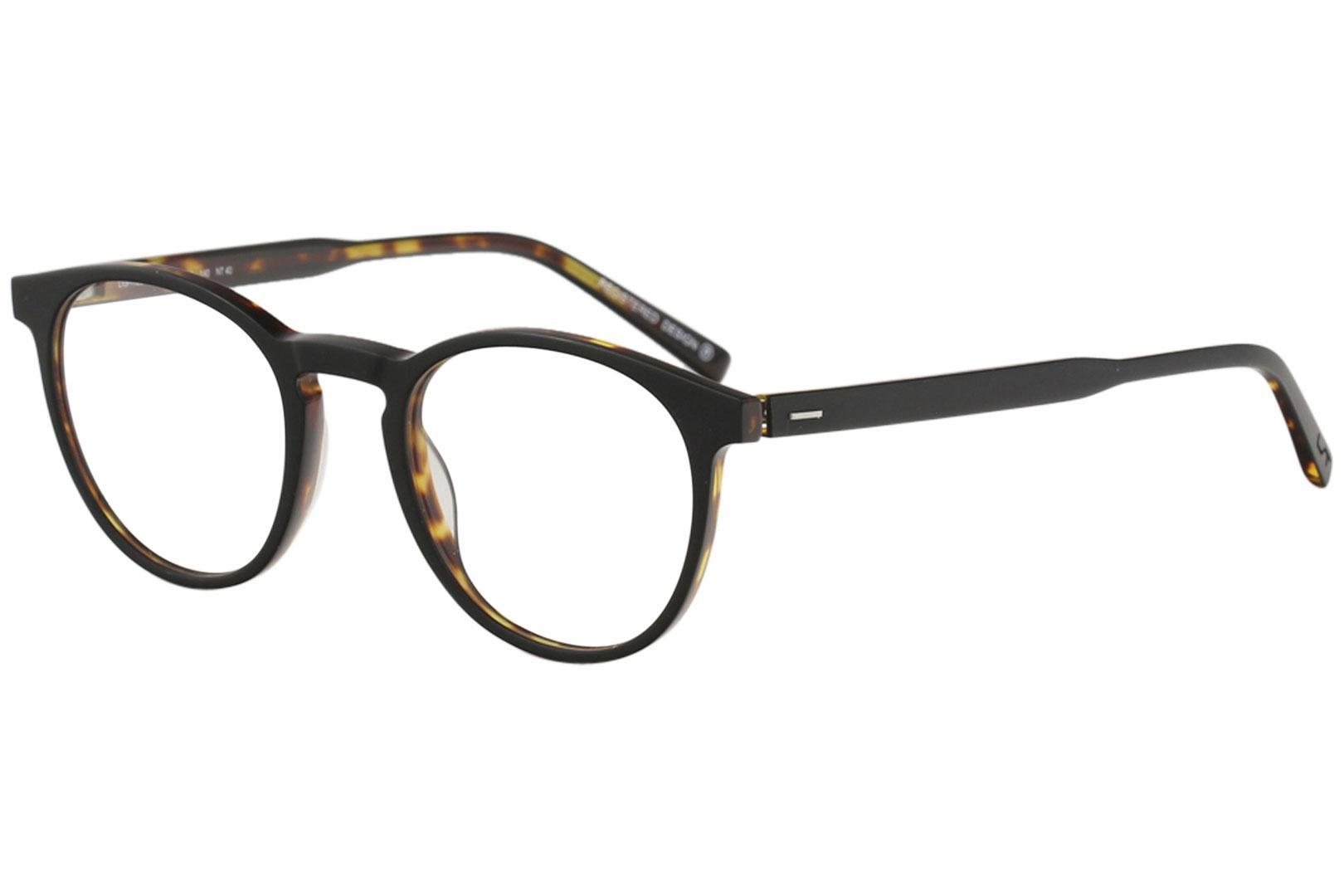 Image of Morel Men's Eyeglasses Lightec 30004L 30004/L Full Rim Optical Frame - Black - Lens 47 Bridge 21 Temple 140mm