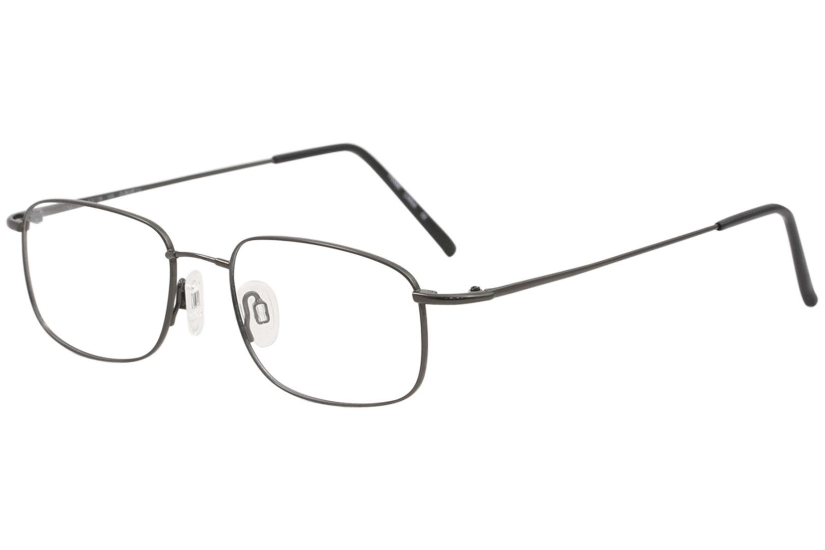 Image of Flexon Men's Eyeglasses 610 Full Rim Optical Frame - Gunmetal   033 - Lens 53 Bridge 18 Temple 145mm