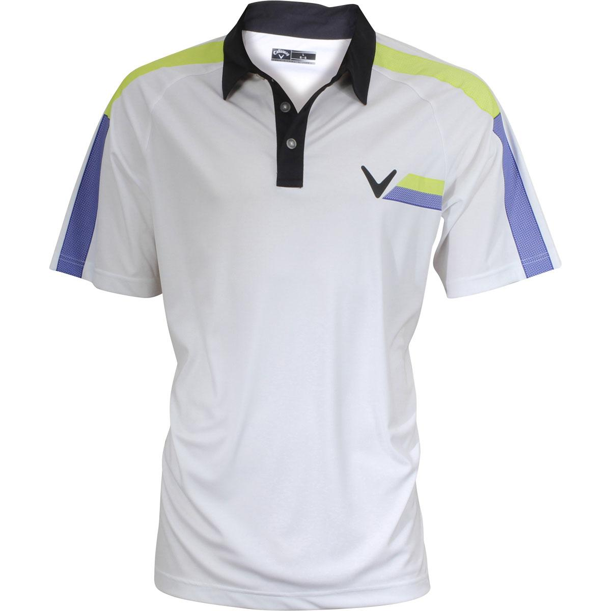 Image of Callaway Men's Printed Block Polo Short Sleeve Shirt - Wild Lime - Classic Fit