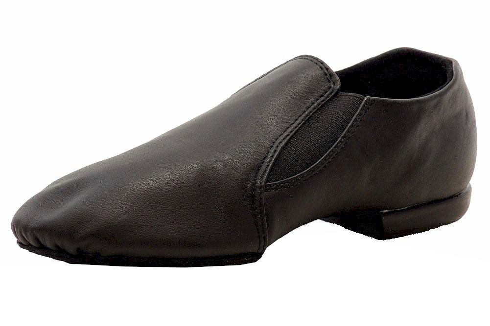 Image of Dance Class Toddler/Little Kid's Pro Jazz Boot Leather Jazz Dancing Shoes - Black - 10 M US Toddler