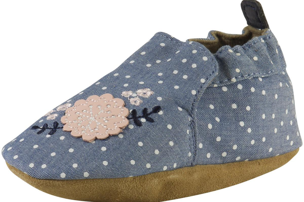 Robeez Mini Shoez Infant Girl's Chambray Bouquet Canvas Shoes