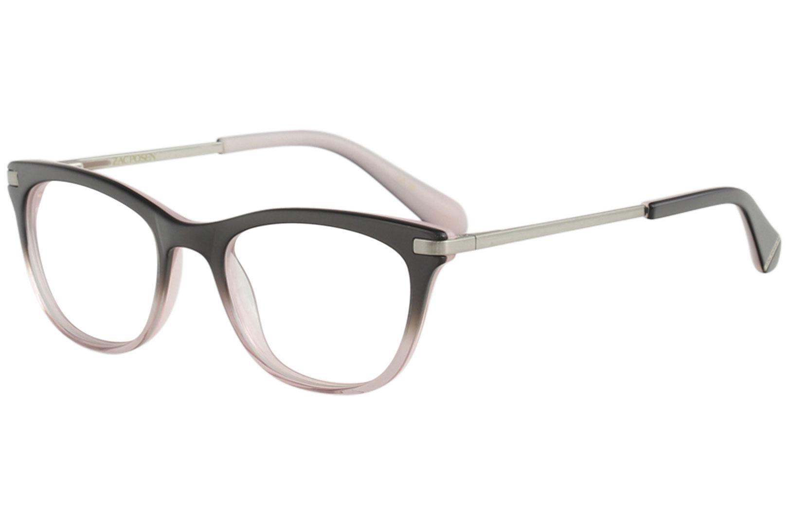 Image of Zac Posen Women's Eyeglasses Gladys Full Rim Optical Frame - Black - Lens 52 Bridge 19 Temple 145mm