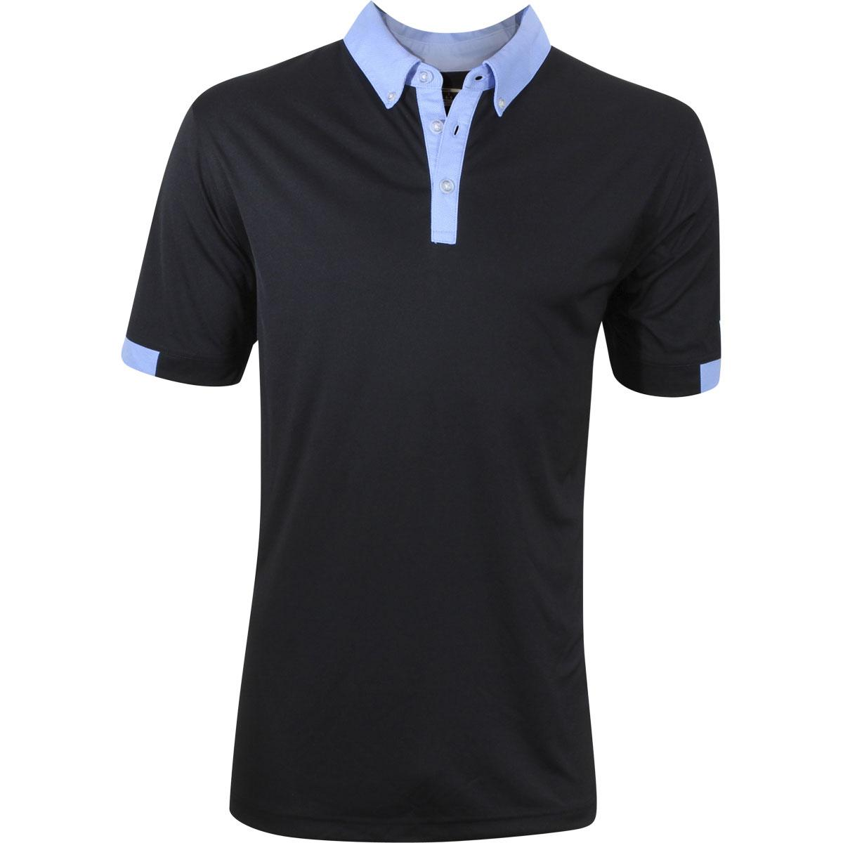 Image of Callaway Men's Blocked Polo Short Sleeve Shirt - Caviar - Classic Fit