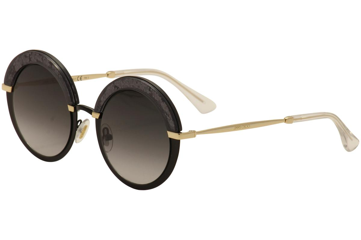 Image of Jimmy Choo Women's Gotha/S Fashion Round Sunglasses - Black - Lens 50 Bridge 22 Temple 145mm