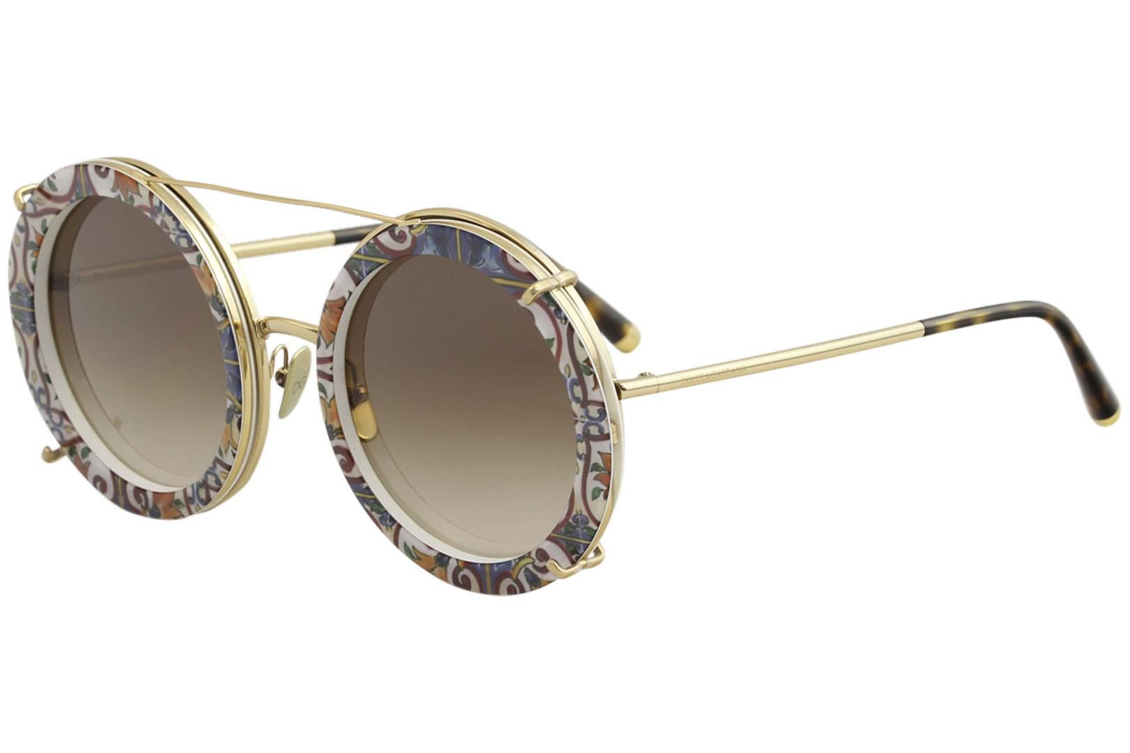 fb843c1ea4 Dolce   Gabbana Women s D G DG2198 DG 2198 Fashion Round Sunglasses W  Clip  On