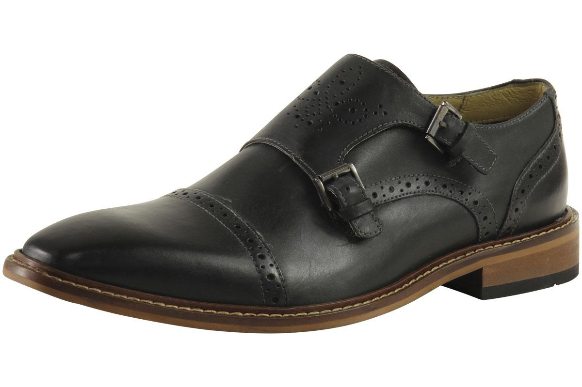 Giorgio Brutini Rapide Fashion Oxford Monkstrap Leather Shoes