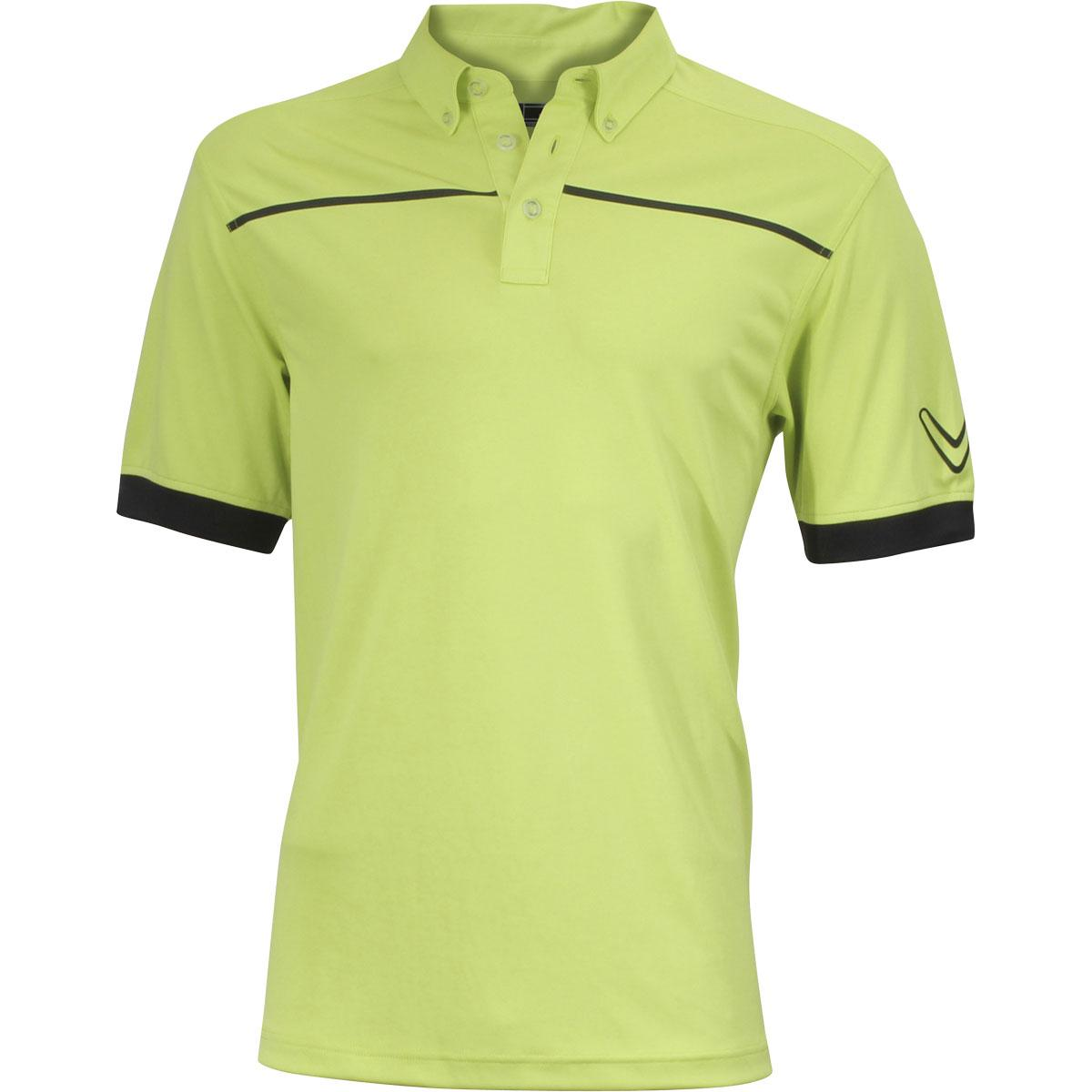 Image of Callaway Men's Engineered Stripe Polo Short Sleeve Shirt - Wild Lime - Classic Fit