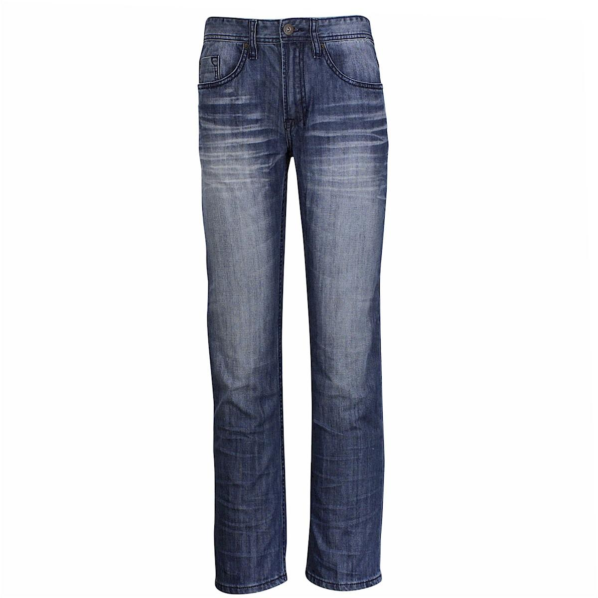 Buffalo Blu Men's Drew Basic Zip Fly Straight Jeans  UPC: