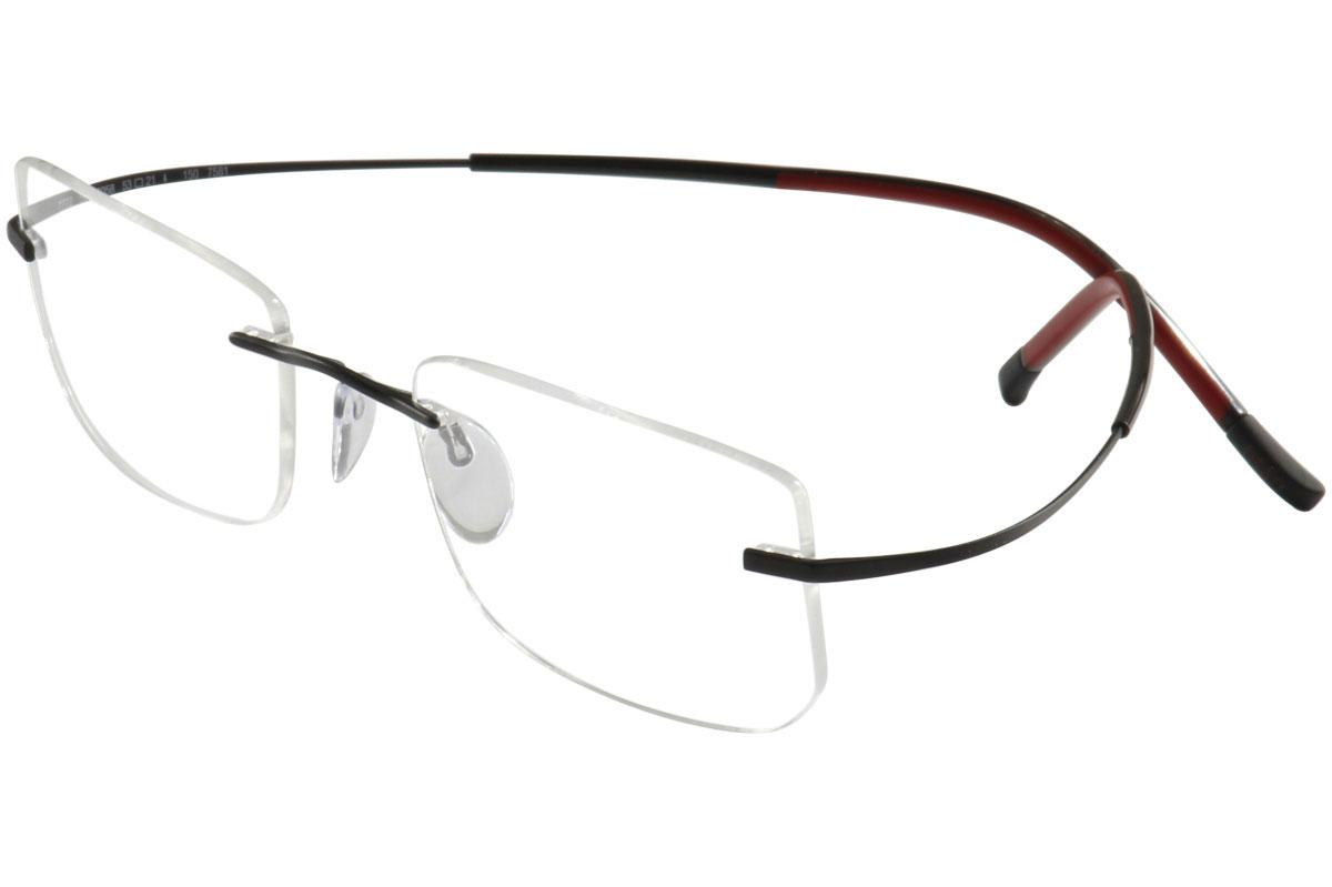 173d590e16 Silhouette Eyeglasses Titan Minimal Art Icon Chassis 7581 Rimless Optical  Frame
