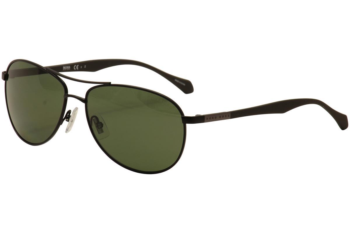 e6b9afaa34 Hugo Boss Men s 0824S 0824 S Stainless Steel Polarized Pilot Sunglasses
