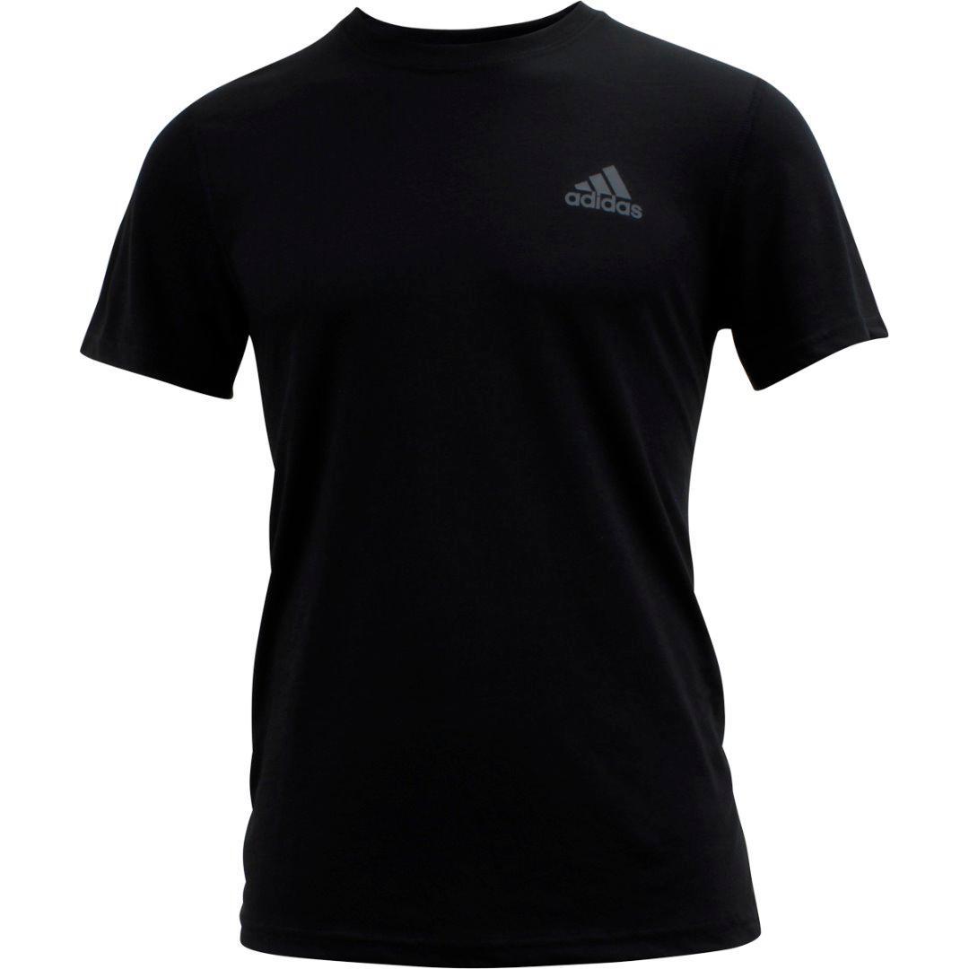 Image of Adidas Men's Ultimate Short Sleeve Tee Climalite T Shirt - Black - Large