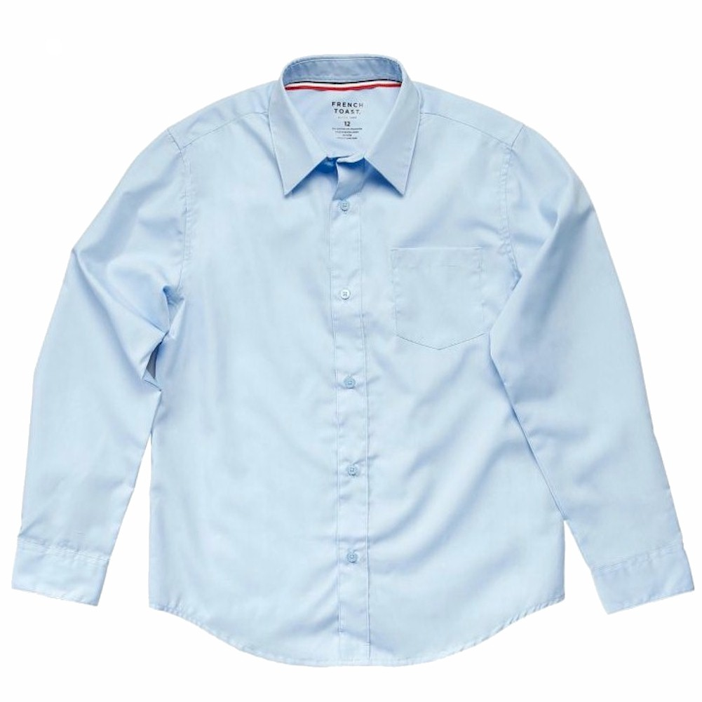French Toast Toddler Boy's Long Sleeve Dress Uniform Button Up Shirt