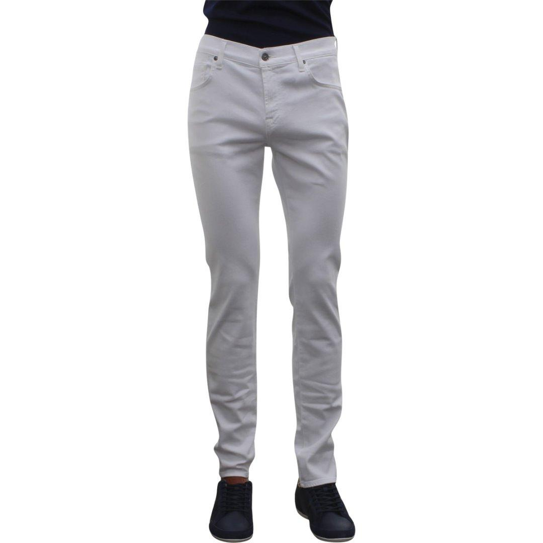 Image of 7 For All Mankind Men's The Paxtyn Skinny Slim Fit Jeans - White - 34